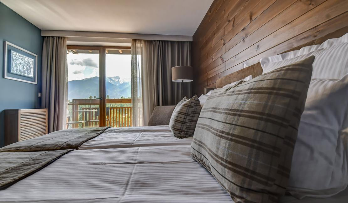 Double Deluxe room with a balcony